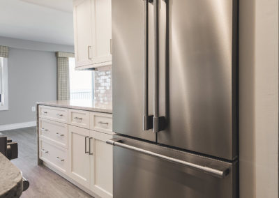 Cabinet and Refrigerator View