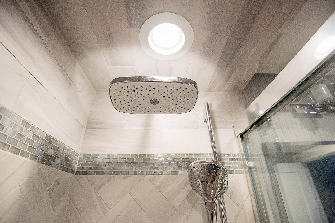 Shower Tile and Ceiling work