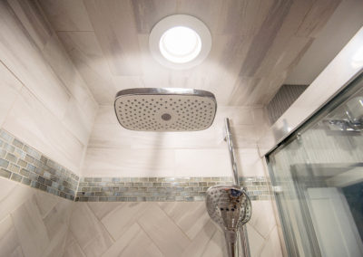 Shower Tile Work and Ceiling
