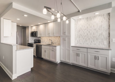 Overall Kitchen View with lighting